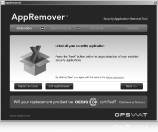 AppRemover Interface