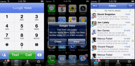 googlevoice app iphone