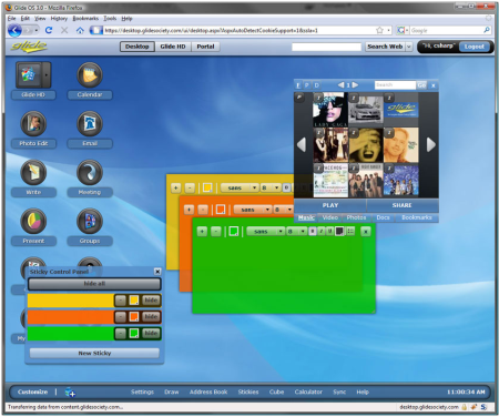 glide os interface