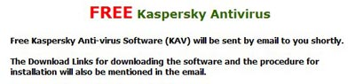 Kaspersky Antvirus confirmation