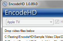 EncodeHD Interface
