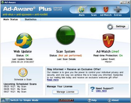 adaware interface