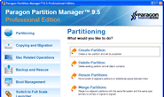 Paragon Partition Manager interface