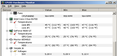 monitor hardware temperature