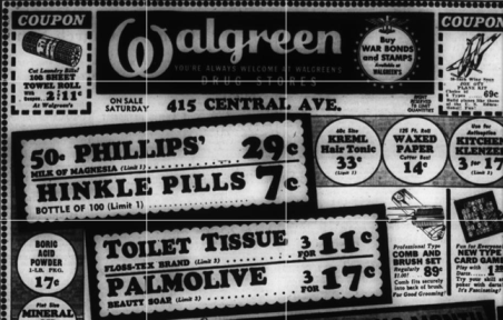 Walgreen Very old ad