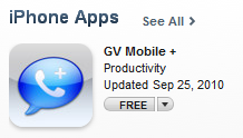 GV Mobile + iphone app