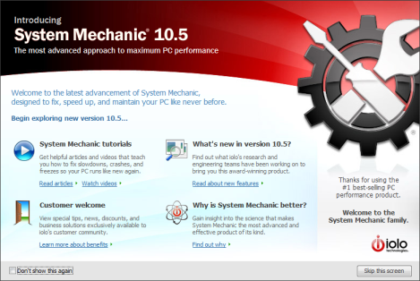 system mechanic 10.5 interface