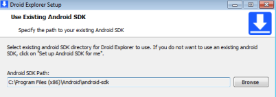 Droid Explorer - Android SDK path