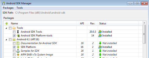Android SDK Manager for Droid Explorer