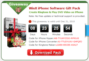 winx iphone software giveaway