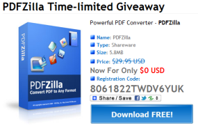 PDFZilla giveaway